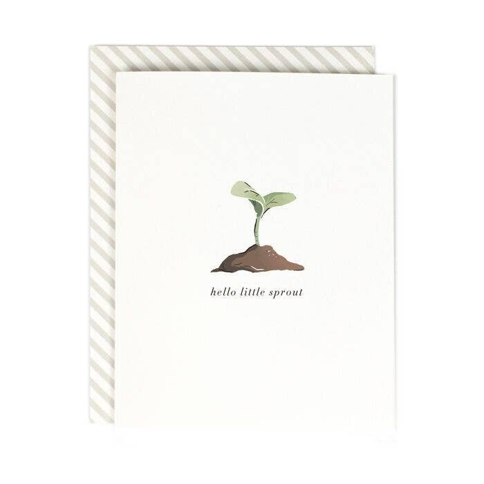 Hello Little Sprout Baby Card