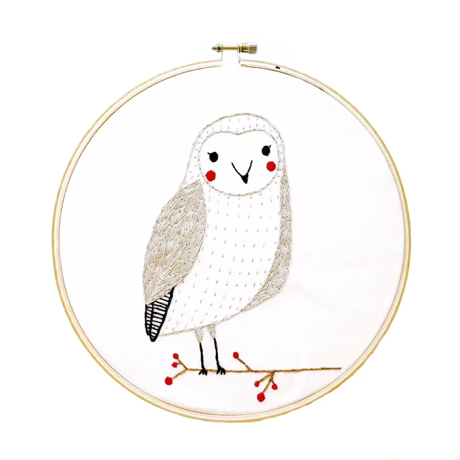 Snow Owl Embroidery Sampler