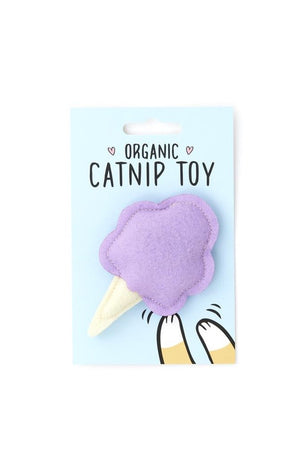 Cotton Candy Cat Toy- Purple