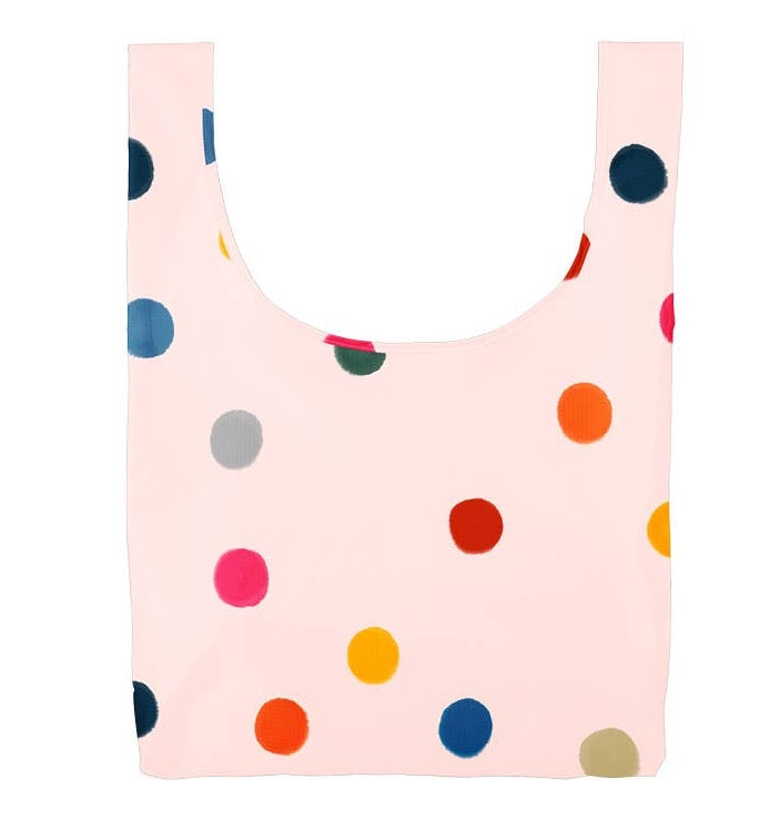 Rainbow Dots Ripstop Nylon Tote Bag