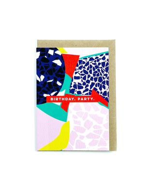 Terrazzo Cut Out Birthday Card