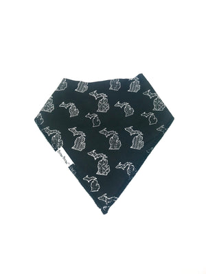 Michigan Kerchief Bib- Black