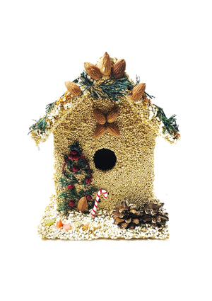 Birdhouse Cottage with Candy Cane- Large