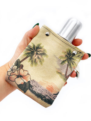 Aloha Take It With You Canvas Flask