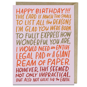 Ream of Paper Birthday Card