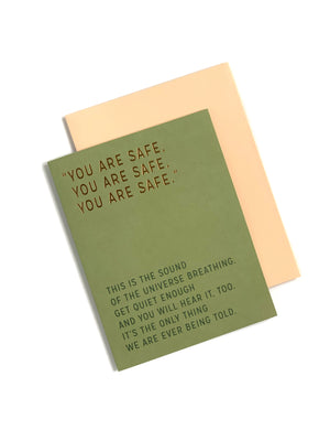 Elizabeth Gilbert You Are Safe Card