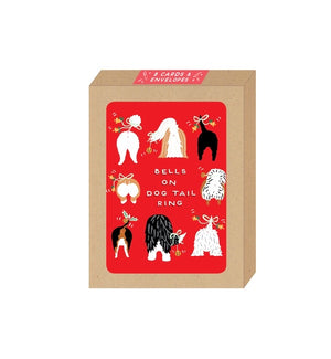 Bells on Dog Tail Ring Boxed Card Set