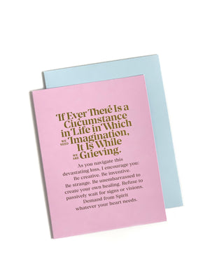 Elizabeth Gilbert If Ever There Is A Circumstance Card