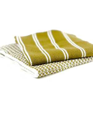 Dishcloth Set of 2- Goldenrod
