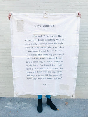 Canvas Wall Tarp- Maya Angelou