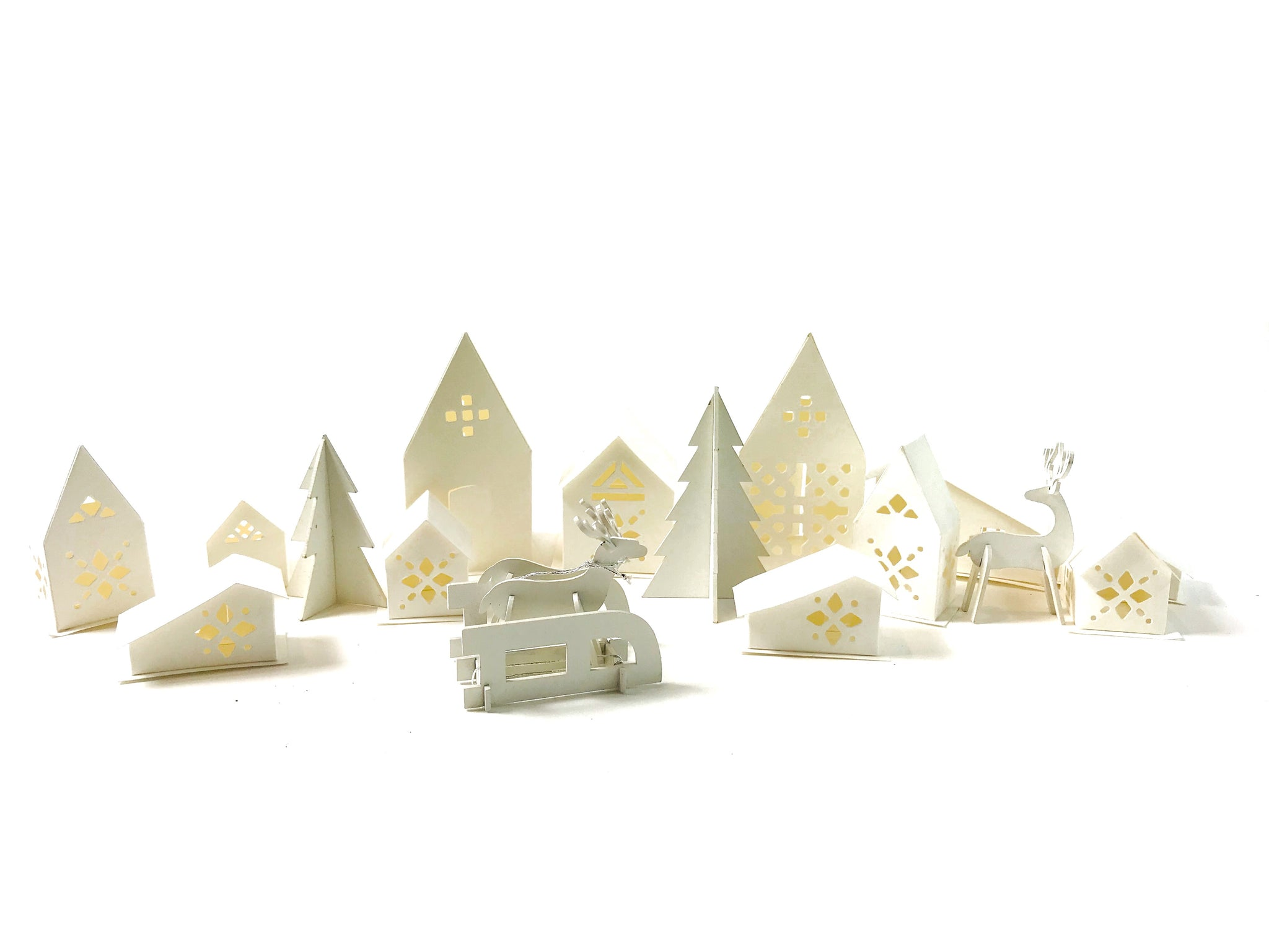 White Paper Village Set