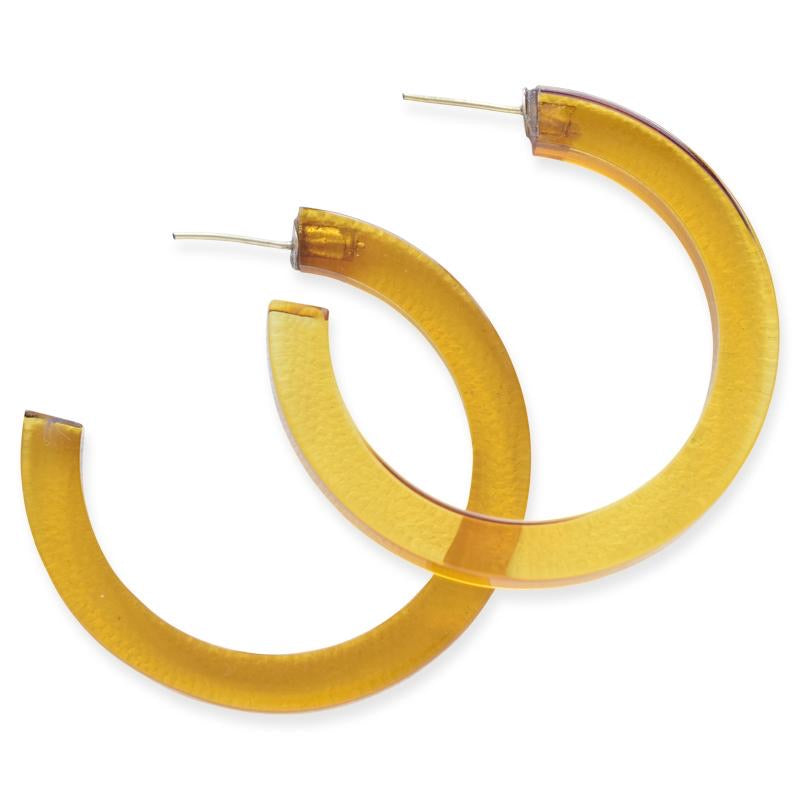 Medium Lucite Hoop- Amber