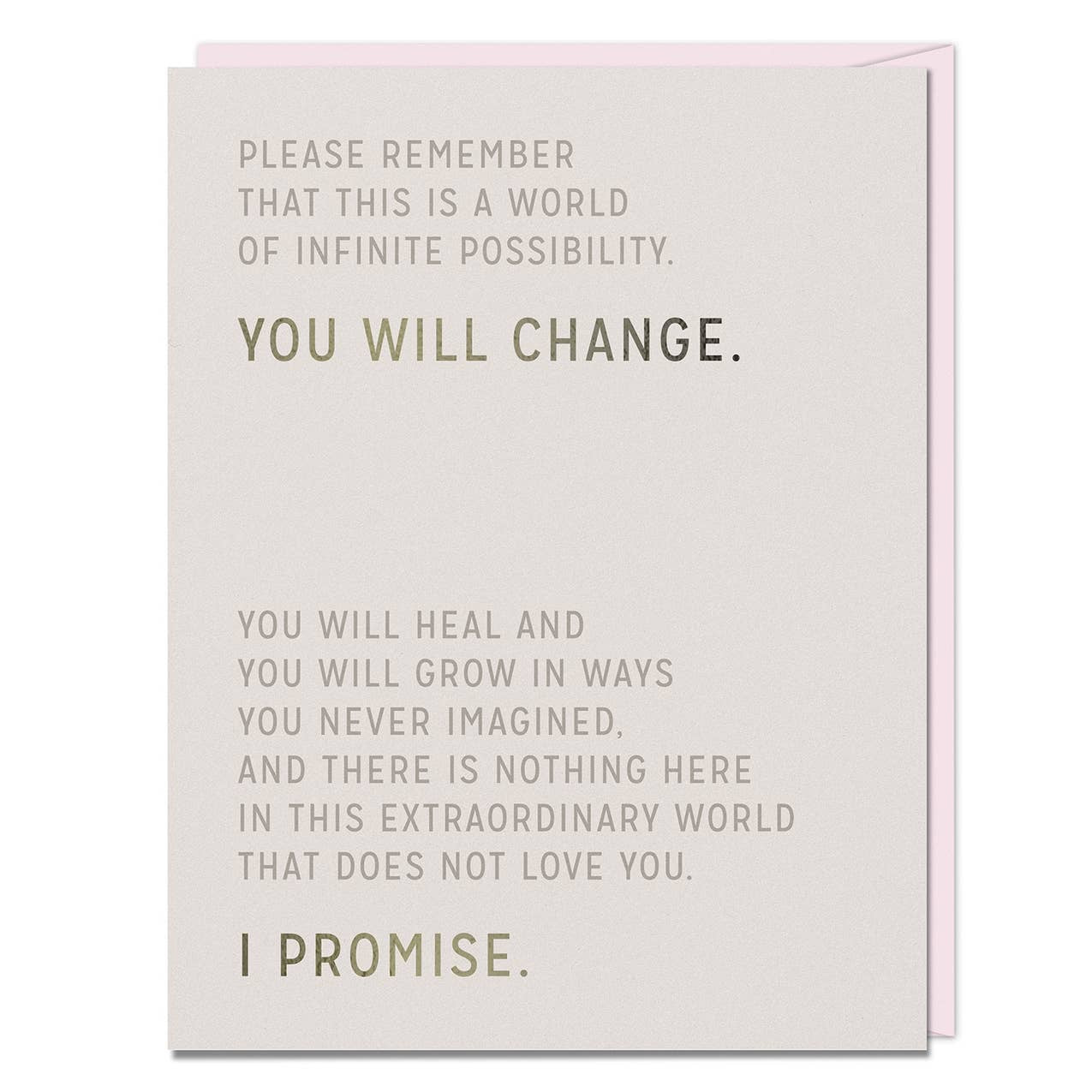 Elizabeth Gilbert You Will Change Card