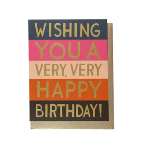 Very Happy Birthday Card
