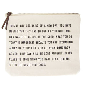 New Day Canvas Pouch