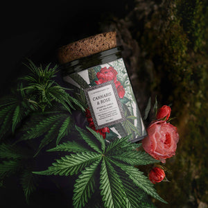 Cannabis & Rose Candle