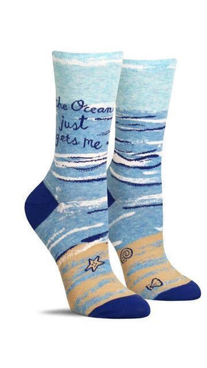 Womxn's Socks- The Ocean Just Gets Me