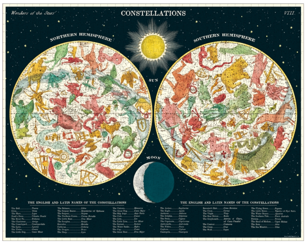 Vintage Style Poster Constellations Puzzle