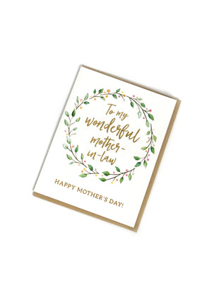 To My Wonderful Mother-In-Law Card