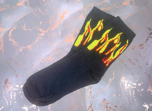 Load image into Gallery viewer, Walking On Flames Middi Socks