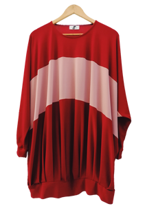 Pleated hoodie dress