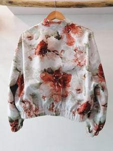 Watercolor bomber jacket