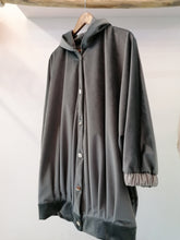 Load image into Gallery viewer, Grey velvet big bomber