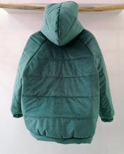 Load image into Gallery viewer, Puffer green coat