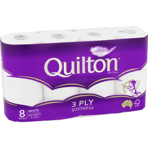 QUILTON 8pack 3ply Toilet Paper