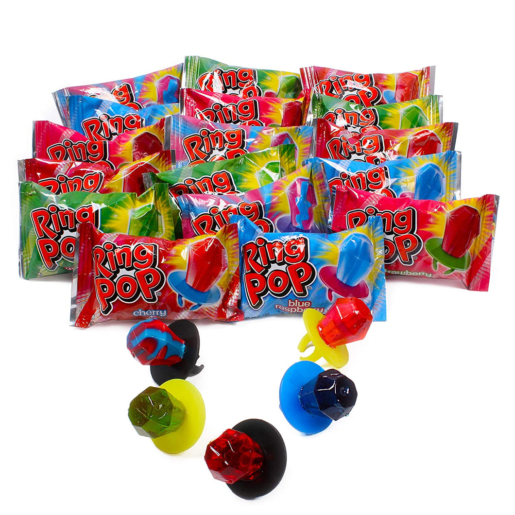 Original RING POP 14g ASSORTED Flavors - Strawberry, Grape, Orange, Raspberry, Blackcurrent