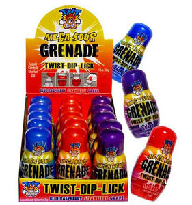 TNT Mega Sour Grenade 50g ASSORTED Flavors - Sour Blue Raspberry, Strawberry, Grape