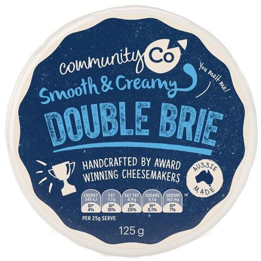 Community Co DOUBLE BRIE 125g