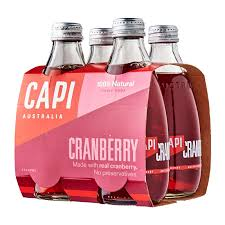 CAPI Glass 250ml CRANBERRY 4PACK