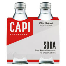 CAPI Glass 250ml SODA WATER 4PACK