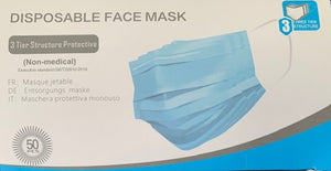 FACE MASKS DISPOSABLE PACKS OF 50