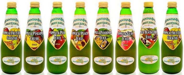 Mountain Fresh Juices APPLE STRAWBERRY GUAVA Long Life 400ml 12 bottles