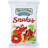 Natural Confectionery 260g SNAKES