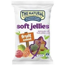 Natural Confectionery 240g SOFT JELLIES FRUIT SALAD