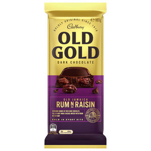 CADBURY Block Chocolate OLD GOLD RUM AND RAISIN 180g