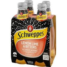 Schweppes 300ml 4 pack LEMON LIME AND BITTERS