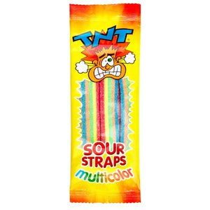 TNT Individually Wrapped Sour Straps MULTI COLOR 57g 1 Packet