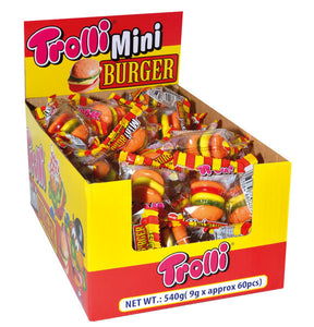 TROLLI Candy MINI BURGER 9gm Box of 60