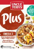 Uncle Tobys PLUS OMEGA 3  775g Breakfast Cereal