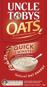 Uncle Tobys QUICK OATS PORRIDGE 1kg Breakfast Cereal