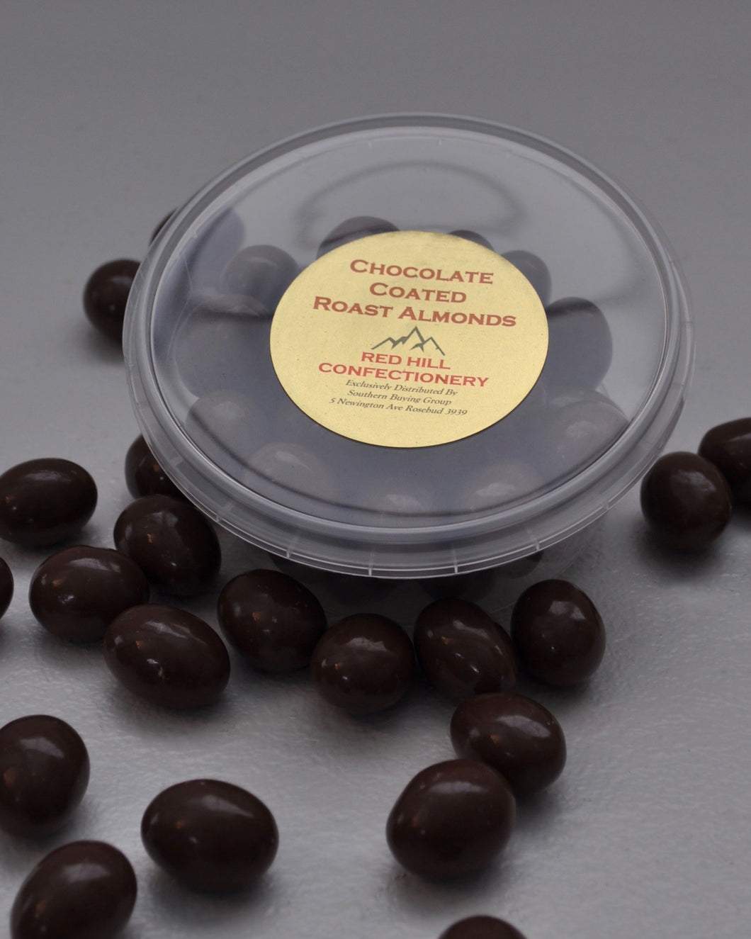 Red Hill Confectionery - Milk Chocolate Coated Almonds 200g Tub