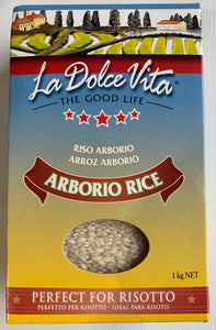 La Dolce Vita ARBORIO RICE 1kg Italian Grown