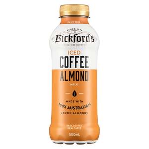 Bickfords Long Life ICED COFFEE ALMOND MILK 500ml Bottle