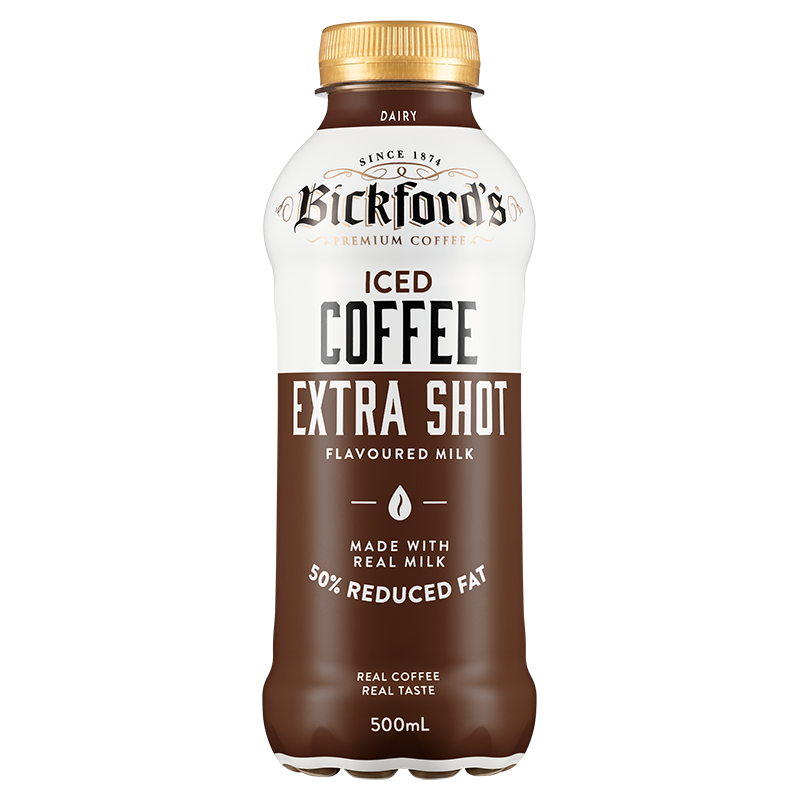 Bickfords Long Life ICED COFFEE EXTRA SHOT 12 x 500ml Case