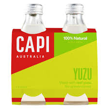 CAPI Glass 250ml YUZU 4 Pack