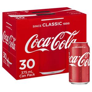 COKE Coca Cola CANS 30 x 375ml